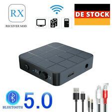 DE 2in1 Bluetooth 5.0 Drahtloser Audio-Sender Empfänger HIFI MP3 Adapter RCA AUX