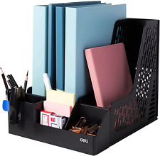Deli Magazine File Book Holder Desktop Organizer Vertical Folder Pencil Storage