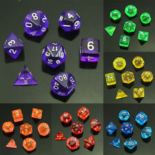 7 Sided Die D4 D6 D8 D10 D12 D20 MTG RPG D&D DND Poly Dices Board Game Chess New