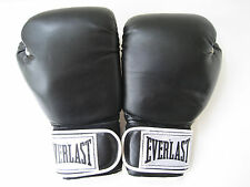 EVERLAST BOXING GLOVES 14 oz SYNTHETIC LEATHER BLACK & WHITE  VINTAGE GREAT