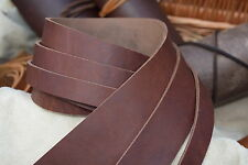 122cm LONG 3.6mm THICK STRAP VINTAGE LOOK BUTT LEATHER STRIP BROWN VARIOUS WIDTH