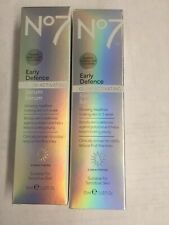 LOT OF 2-No7 Early Defence Glow Activating Serum 30 mL/1 fl oz~ Brand New