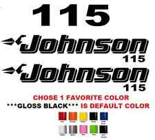 (#623) JOHNSON 115 OUTBOAT STICKERS DECALS