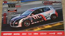 2009 APR Motorsport #171 Volkswagen MKV GTI Koni Challenge postcard