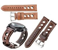 Leather Mens Watch Strap Band For Tissot Citizen Timex Oris Casio Seiko Swatch