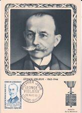 X157 Carte Maximum - Léonce VIELJEUX 26 Mars 1960 LESVANS  1 er Jour