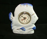 Tischuhr Porzellanuhr Porzellan Fisch Scalar Porzellanfisch Uhr