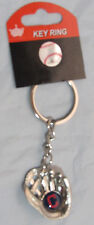 """MLB Chrome Glove With """"C"""" Logo in Palm Key Chain Cleveland Indians AMINCO"""