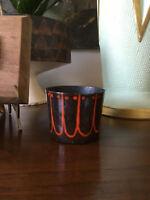 Vintage Mid Century Modern Abstract Enamel Cup Vessel