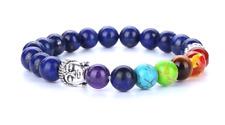 Chakra Beaded Bracelets Healing Gemstones Blue Beads Stones Bangle Buddha Yoga