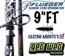Pflueger Illusion Spinning Rod 2-5kg 2pc 9ft Mudeye Rod