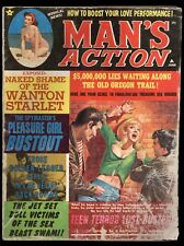 Man's Action Jun 1968 Sexy Cover Nazi & Bondage Interior Art Pin-up Girls FAIR