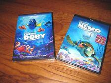 Finding Dory + Finding Nemo: Authentic Disney Pixar w/ Disney Reward Dvd ] New