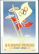 OLYMPIC GAMES === OSLO     1952-------- MARS POSTCARD