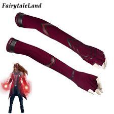 Wanda Vision Scarlet Witch Wanda Cosplay Gloves Superheroine Costume Accessories