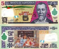 GUATEMALA 5 Quetzel Banknote World Currency Money BILL Polymer Note p122b Bird