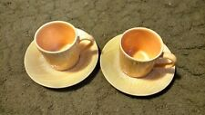 STANGL   YELLOW  MAIZE   2 CUPS & 2 SAUCERS    LOOK!