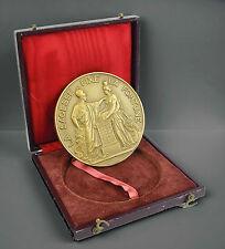 Médaille La sagesse fixe la fortune Wisdom Banque de France à André Botte Medal