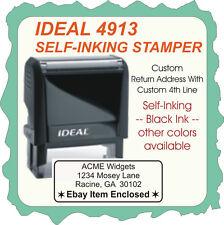Return Address w/ 3 or 4 lines, Custom, w/border, Trodat / Ideal Self-Ink 4