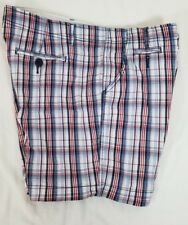 Faded Glory Women's Multi Color Plaid Shorts Size 18