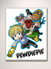 PEWDIEPIE INSPIRED WALL POSTER A2 SIZE PERFECT FOR BEDROOM FLYING DESIGN