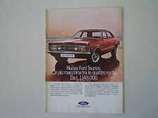 advertising Pubblicità 1971 FORD TAUNUS GXL