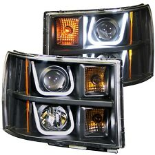 Anzo 111284 Black U-Bar Projector Headlights for 2007-2013 GMC Sierra 1500