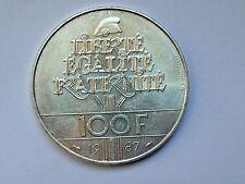 trés belle monnaie 100frs argent Egalité la Fayette 1987 TTB/SUP
