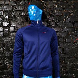 Barcelona Barca Training Jacket with Zipped Nike 624317-421 Dark Blue Mens S