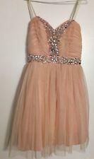 Light pink short Evening Formal Prom Ball Gown Dress