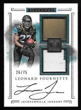 2017 Impeccable #102 Leonard Fournette Patch Helmet On Card Autograph RC #26/75
