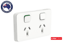 Clipsal Iconic 3025VW Double Switch Socket Outlet Horizontal Mount ,250V, 10A