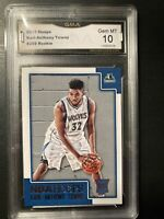 2015-16 Panini Hoops KARL-ANTHONY TOWNS RC! GMA 10 Gem Mint! PSA? Rookie!!