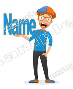 Blippi Personalised  - IRON ON TRANSFER T-SHIRT