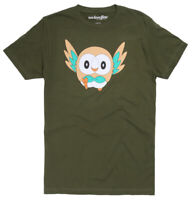 Pokemon Rowlet Men's Graphic T-Shirt New