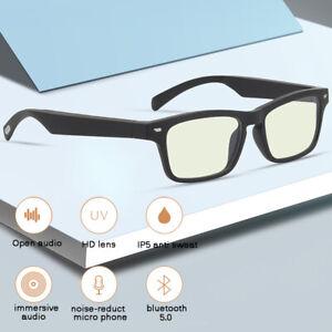 Wireless Bluetooth 5.0 Smart Glasses Hands-Free Anti-blue Light Eyewear Earphone
