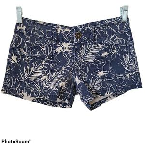 UnionBay Jean Shorts Floral Print Shortie Booty Shorts Size 5 Juniors Blue