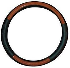 <WOOD LEATHER Effect Steering Wheel Cover fits MERCEDES