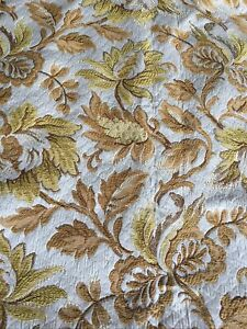 """2.52 Metres Of Retro Vintage Upholstery Mixed Strong Cotton Fabric Wide 54"""""""