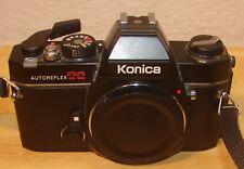 Konica Autoreflex TC 35mm SLR Camera w/Konica Hexanon AR 50mm f1.7 & Zoom Lens