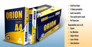 Pallet, (40 boxes, 200 reams) A4 Paper, 80GSM, Orion Premium Paper. Colorlok