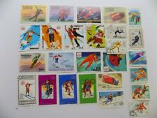 World Wide Topical Coll'n of used 1976 Innsbruck Olympic stamps off paper-7-OL