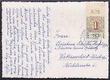 Bund Mi Nr. 310 OR EF auf AK Rosen, gel. Essen - Wattenscheid 1959