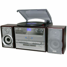 TURNTABLE RECORD PLAYER CASSETTE AM FM RADIO RECORD REMOTE ENCODER 3 SPEED