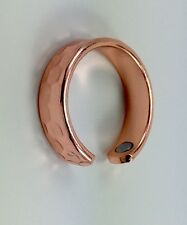 Hammered  Men Women's Copper Magnetic Ring Adjustable USA size 6 to 8. Healing.