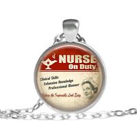 Registered Nurse Nurse Red cross nurse Tibet silver pendant chain Necklace