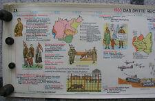 La fresque geschichtsfries nazionalsozialismus 139x50 VINTAGE nazi Wall Chart 1965