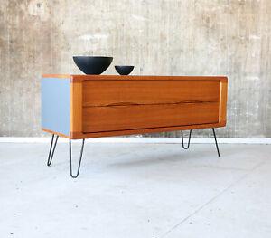 Vintage 60er Teak Sideboard Kommode HIFI  TV Rack Mid-Century 60s Cabinet 70er