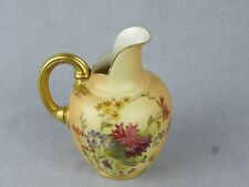 ANTIQUE ROYAL WORCESTER BLUSH IVORY FLAT BACKED JUG - STYLE 1094  - DATE 1909