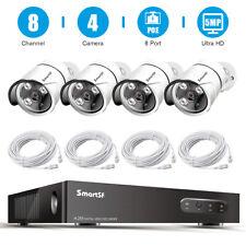 SmartSf 5Mp PoE Security Camera System 8Ch Nvr Video Surveillance camera kit